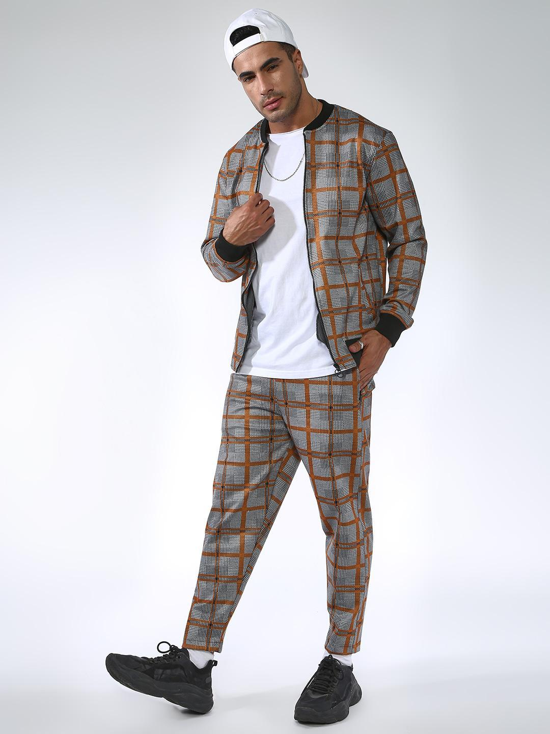 SID & SOM Multi All Over Multi Check Joggers 1