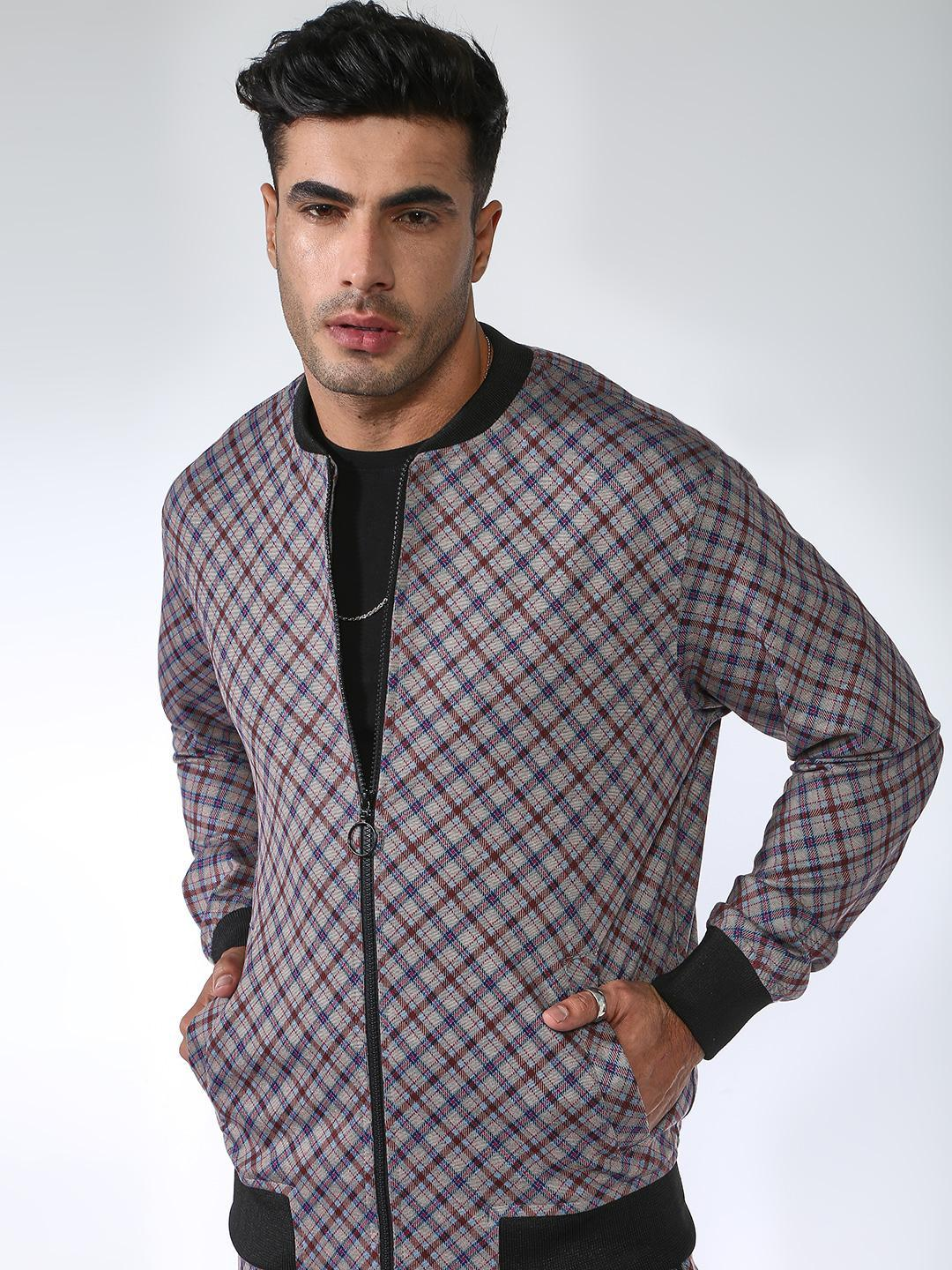SID & SOM Multi All Over Multi Check Bomber Jacket 1