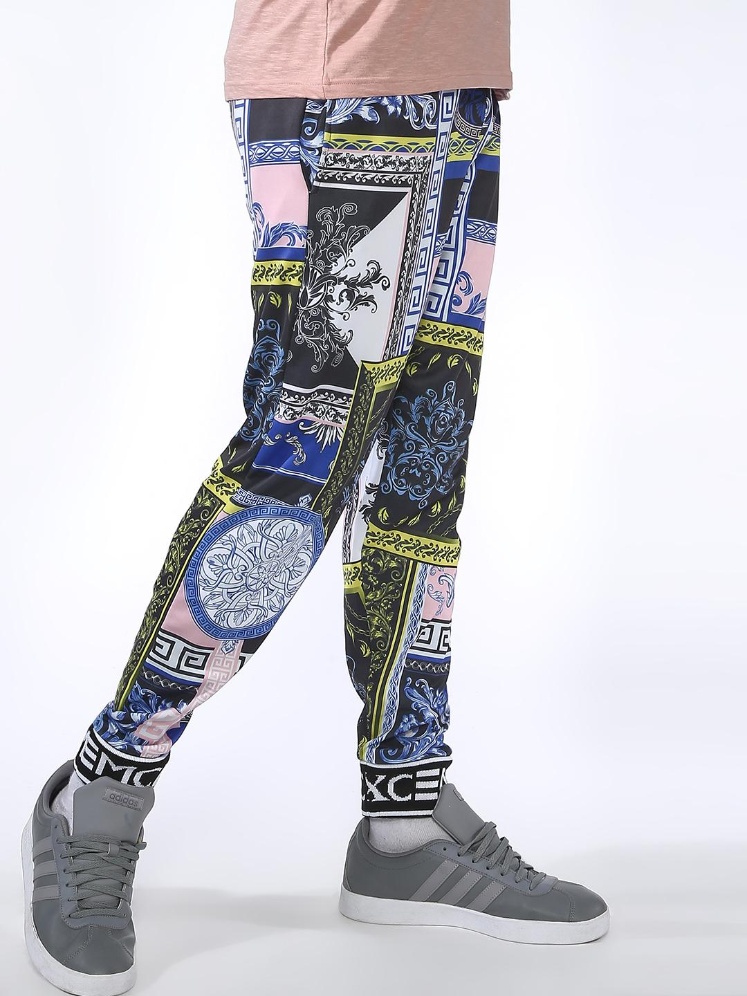 SID & SOM Multi Spliced Baroque Print Joggers 1