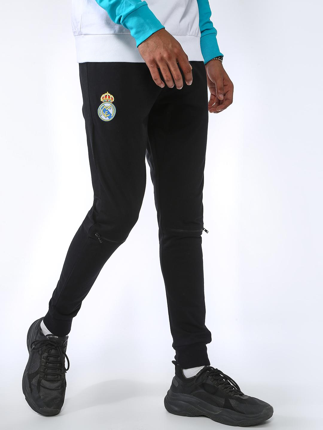 REAL MADRID Black Basic Slim Fit Joggers 1