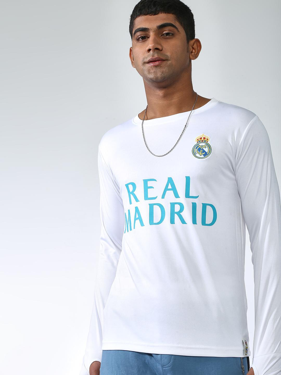 REAL MADRID White Placement Print T-shirt 1