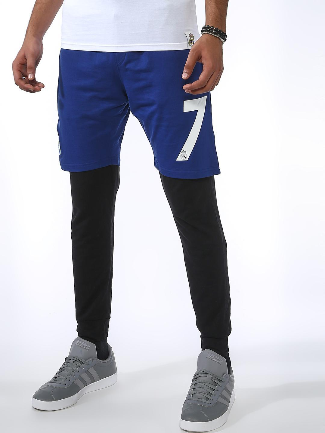 REAL MADRID Blue Basic Cuffed Jog Pants 1
