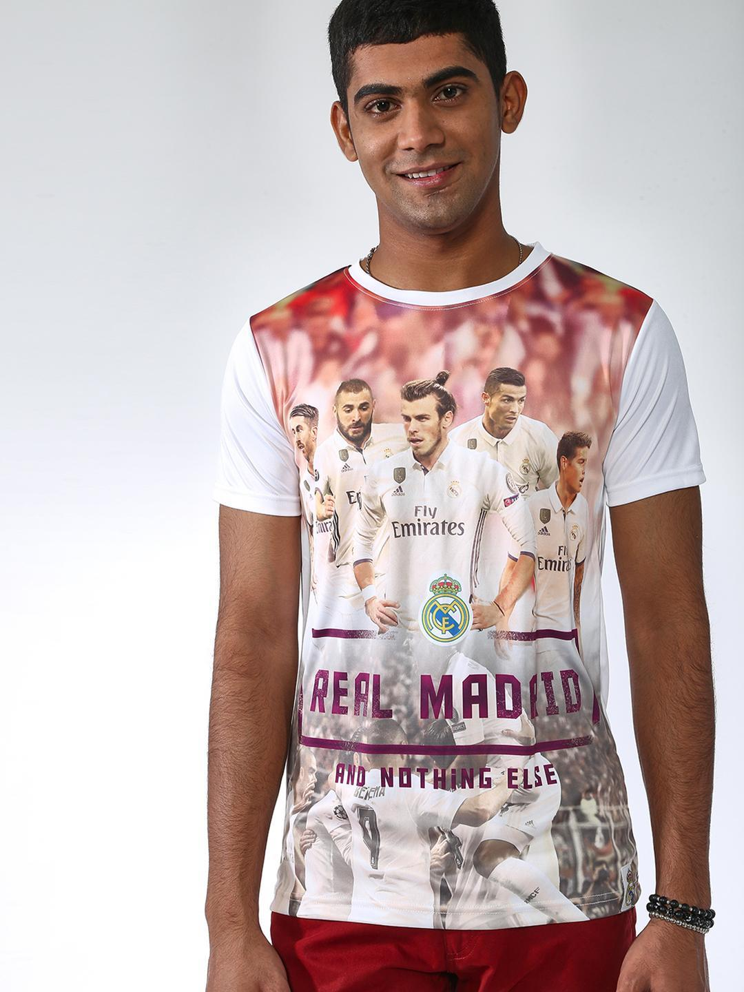 REAL MADRID White Digital Placement Print T-shirt 1