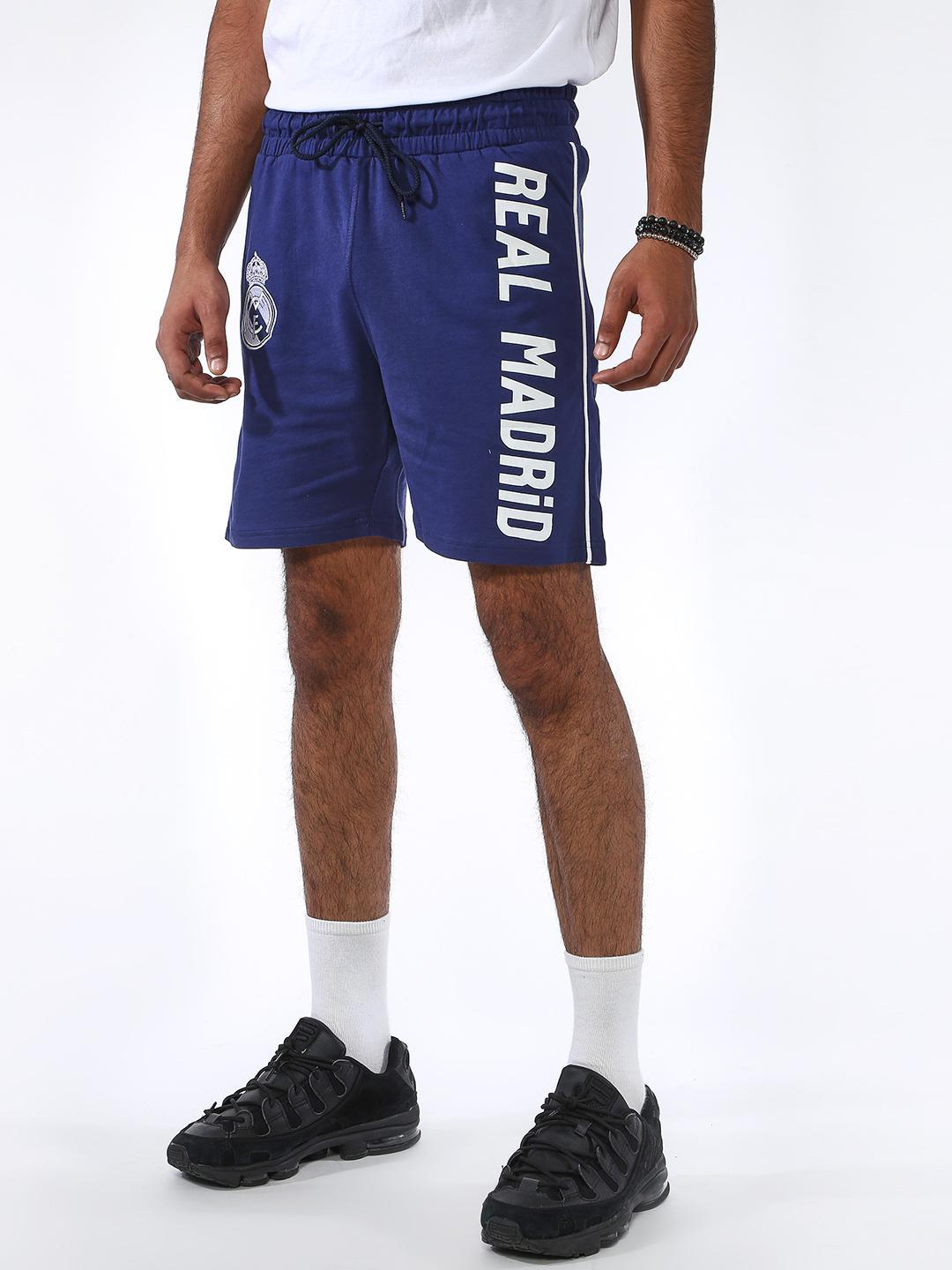 REAL MADRID Blue Placement Print Shorts 1