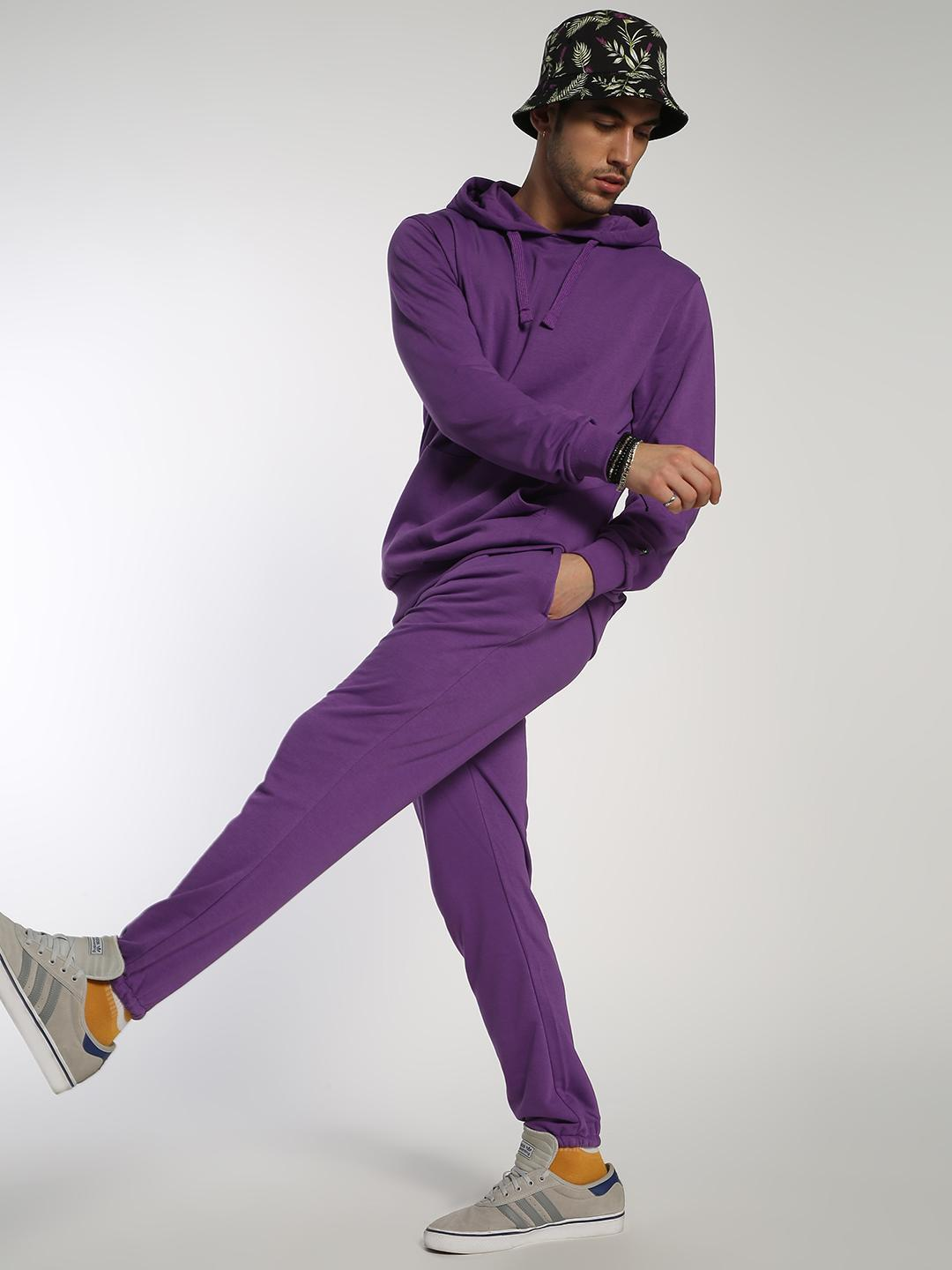 ABG Purple Basic Long Sleeve Hoodie 1