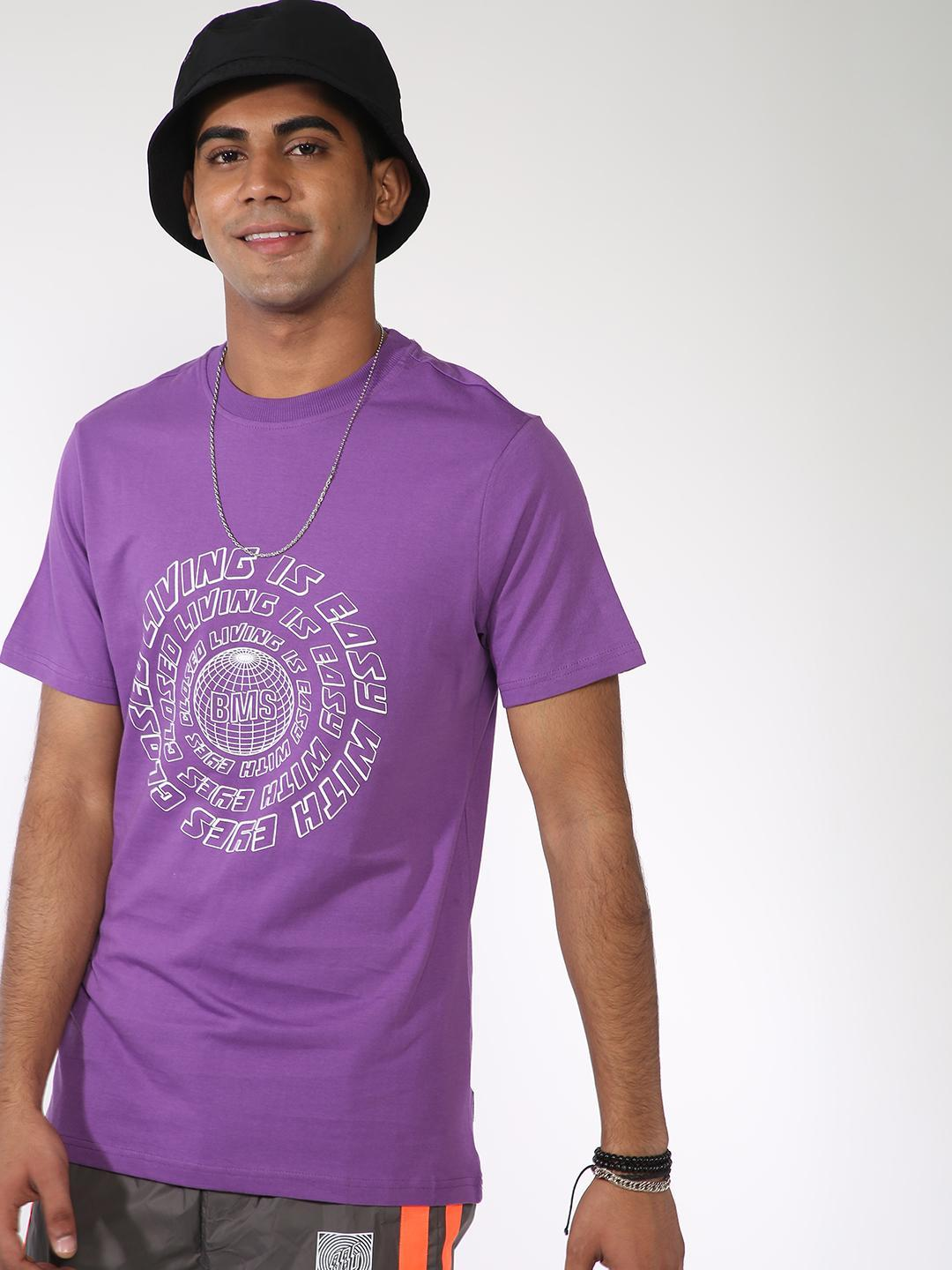 ABG Purple Slogan Placement Print T-Shirt 1