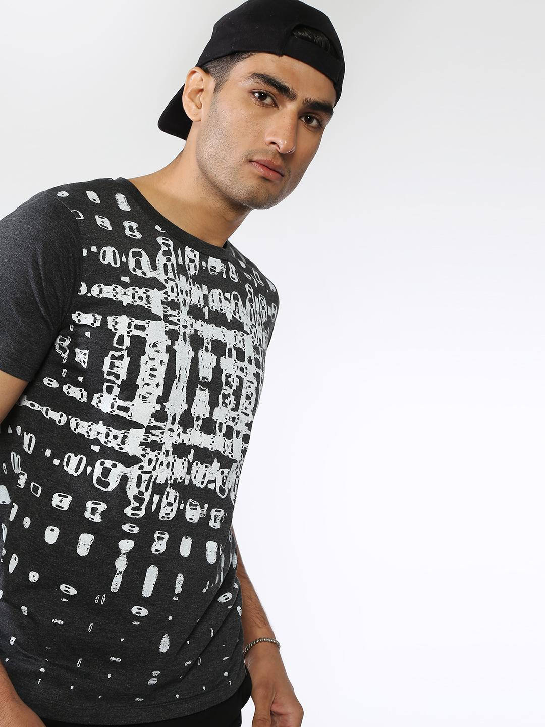 IMPACKT Grey All Over Printed T-shirts 1