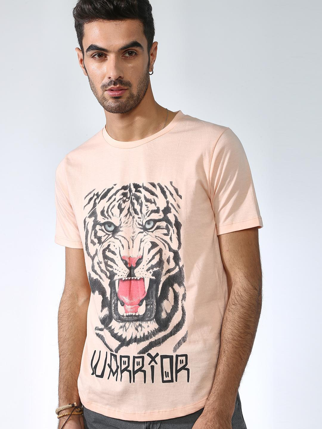 IMPACKT Multi Tiger Print Crew Neck T-Shirt 1