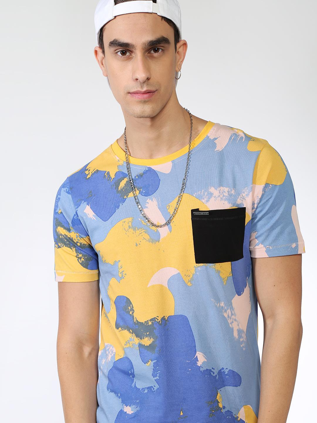 IMPACKT Camouflage Camo Print Patch Pocket T-shirt 1