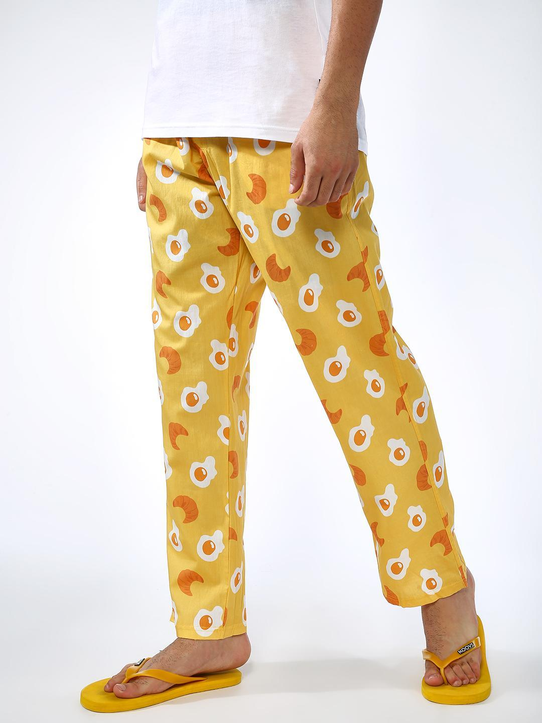 SMUGGLERZ Inc. Yellow All Over Print Trousers 1