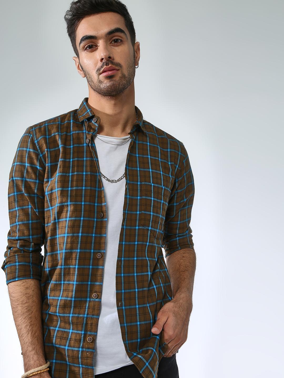 AMON Multi Multi Check Casual Shirt 1
