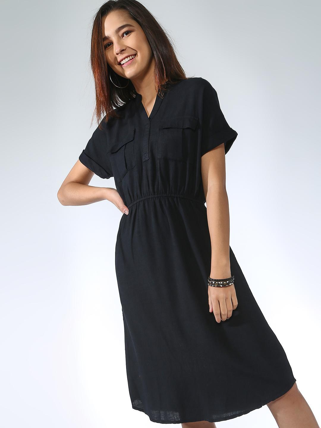 Oxolloxo Black Patch Pocket Dress 1