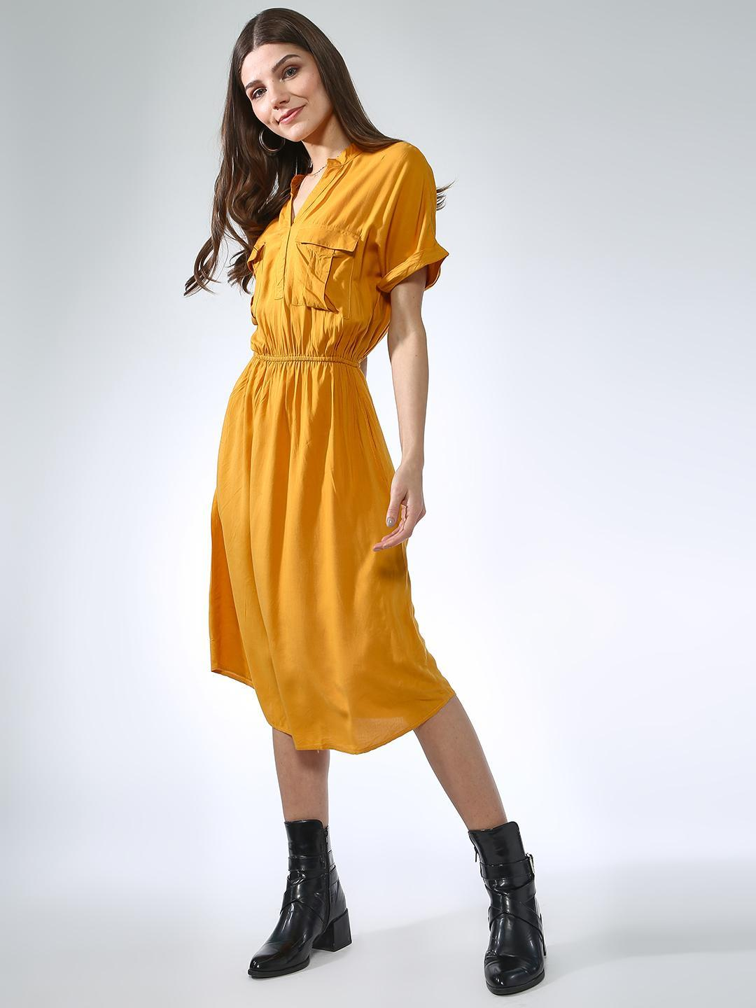 Oxolloxo Yellow Patch Pocket Dress 1