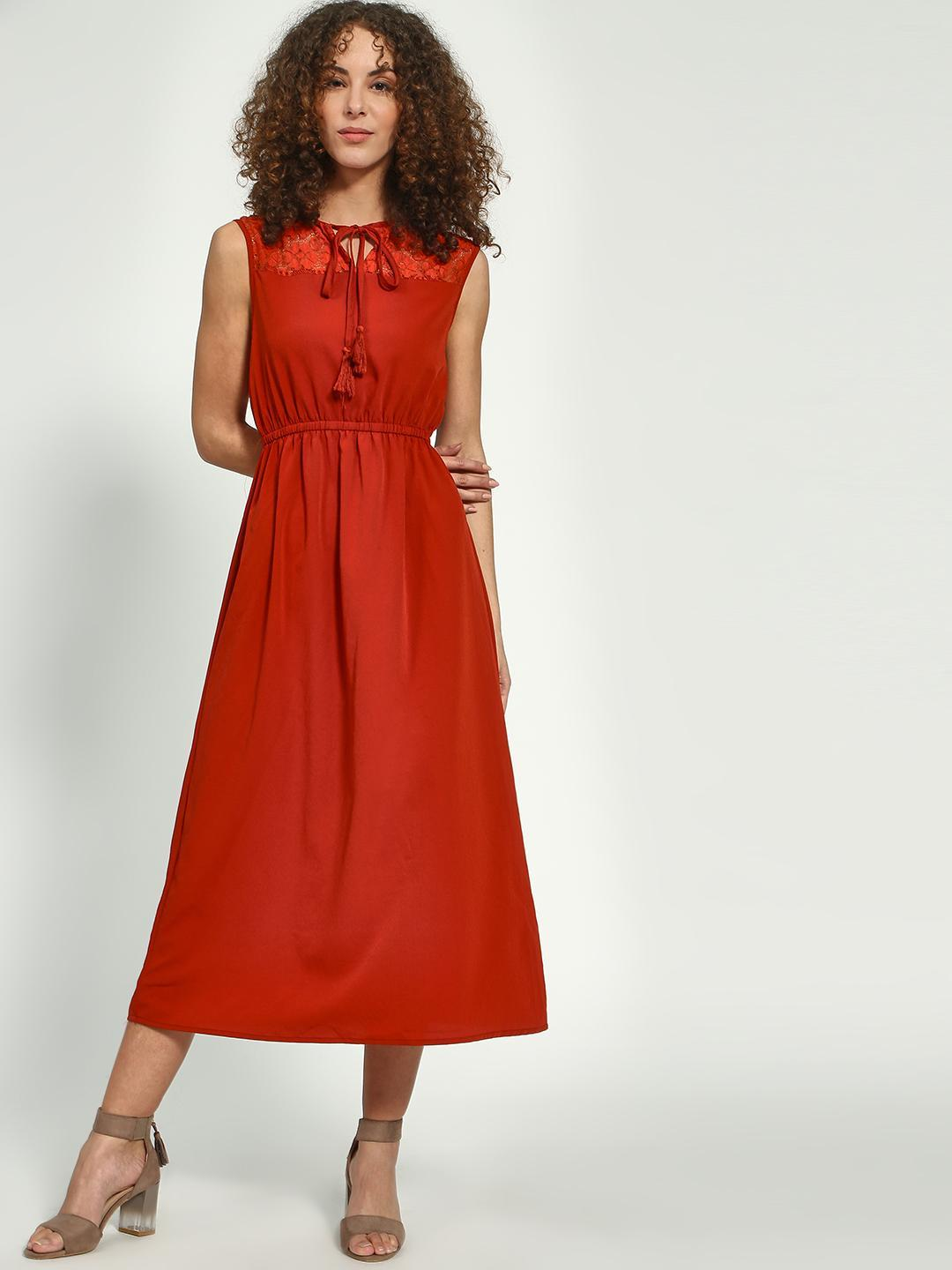 Oxolloxo Rust Classic Sleeveless Dress 1