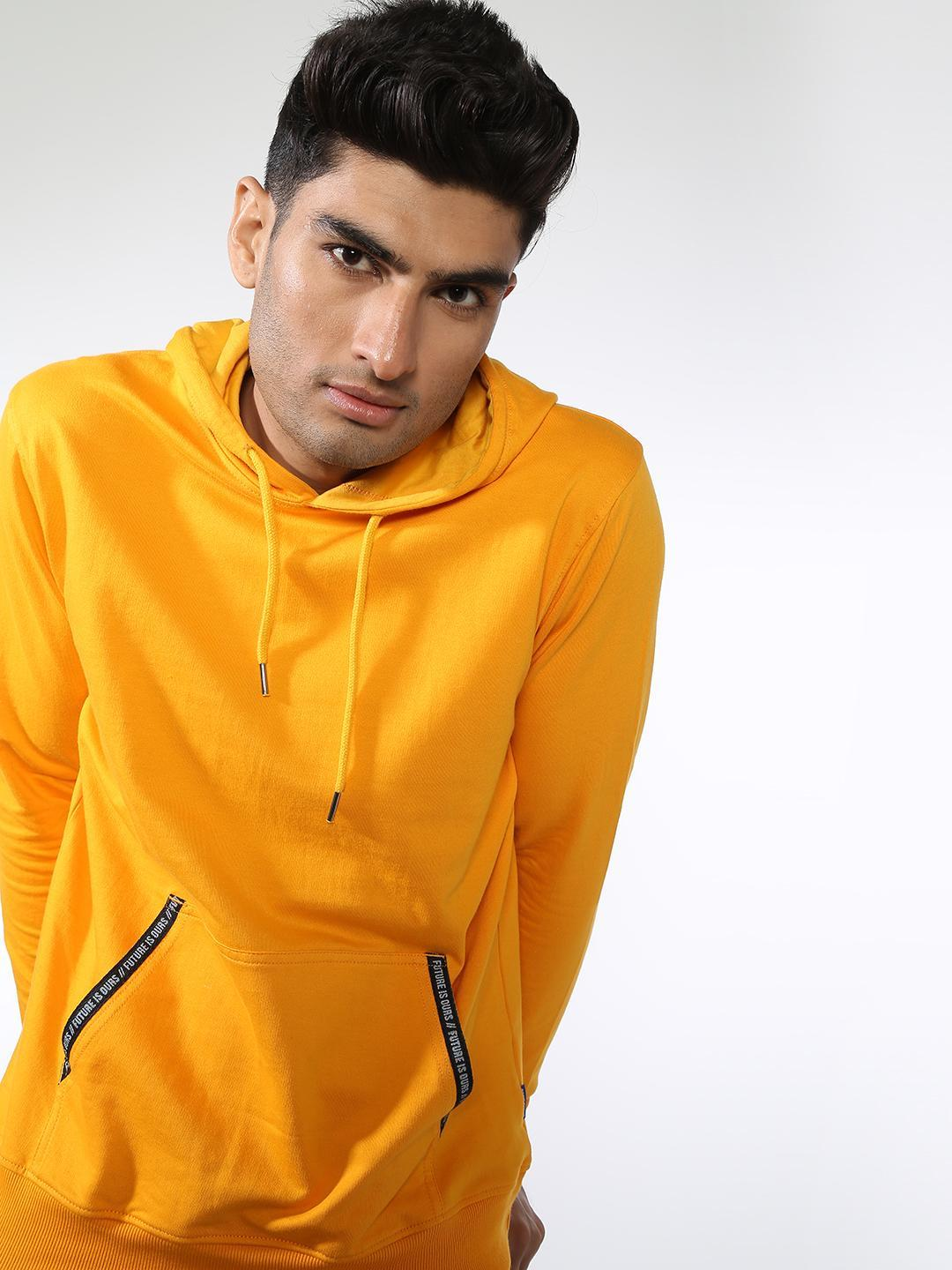Blue Saint Yellow Hooded Regular Fit Sweatshirt 1