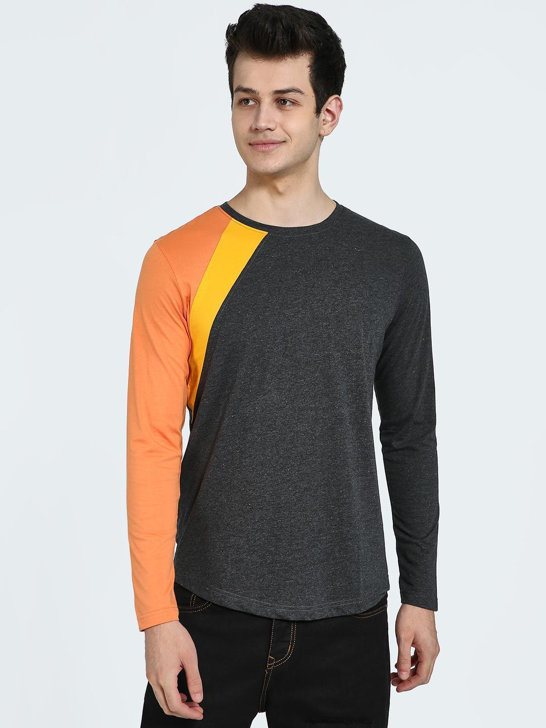 IMPACKT Multi Colour Block Long Sleeve T-Shirt 1