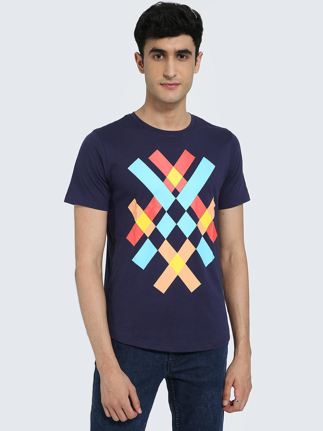 IMPACKT Multi Abstract Print Crew Neck T-Shirt 1