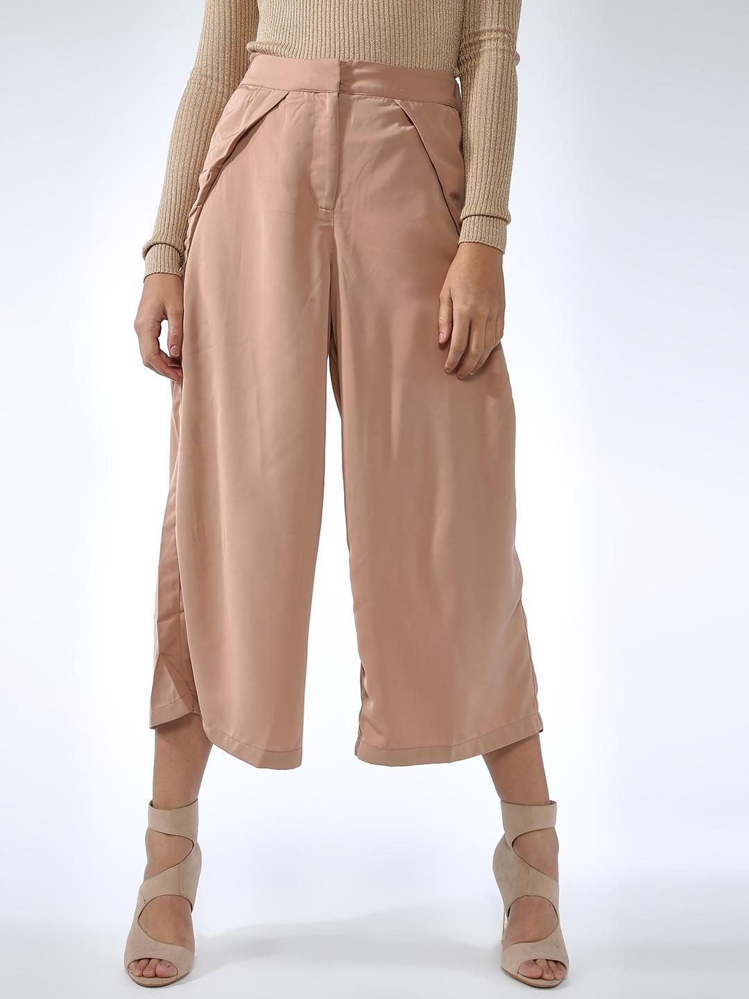 Oxolloxo Beige Casual Pastel Trousers 1