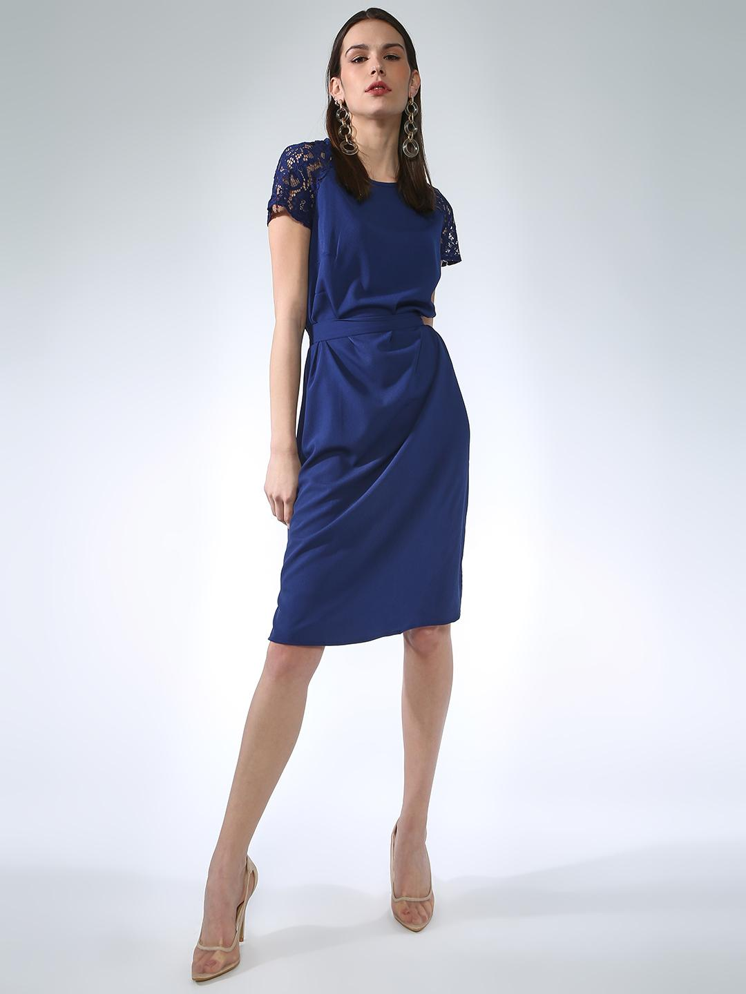 Oxolloxo Navy Waist Tie-Knot Dress 1