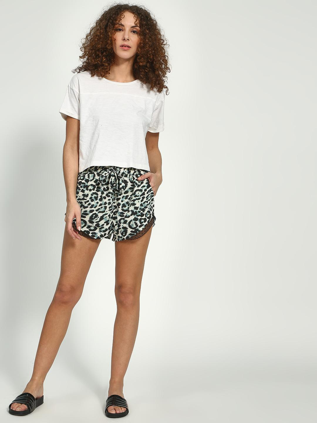 Oxolloxo Navy Graphic Print Shorts 1