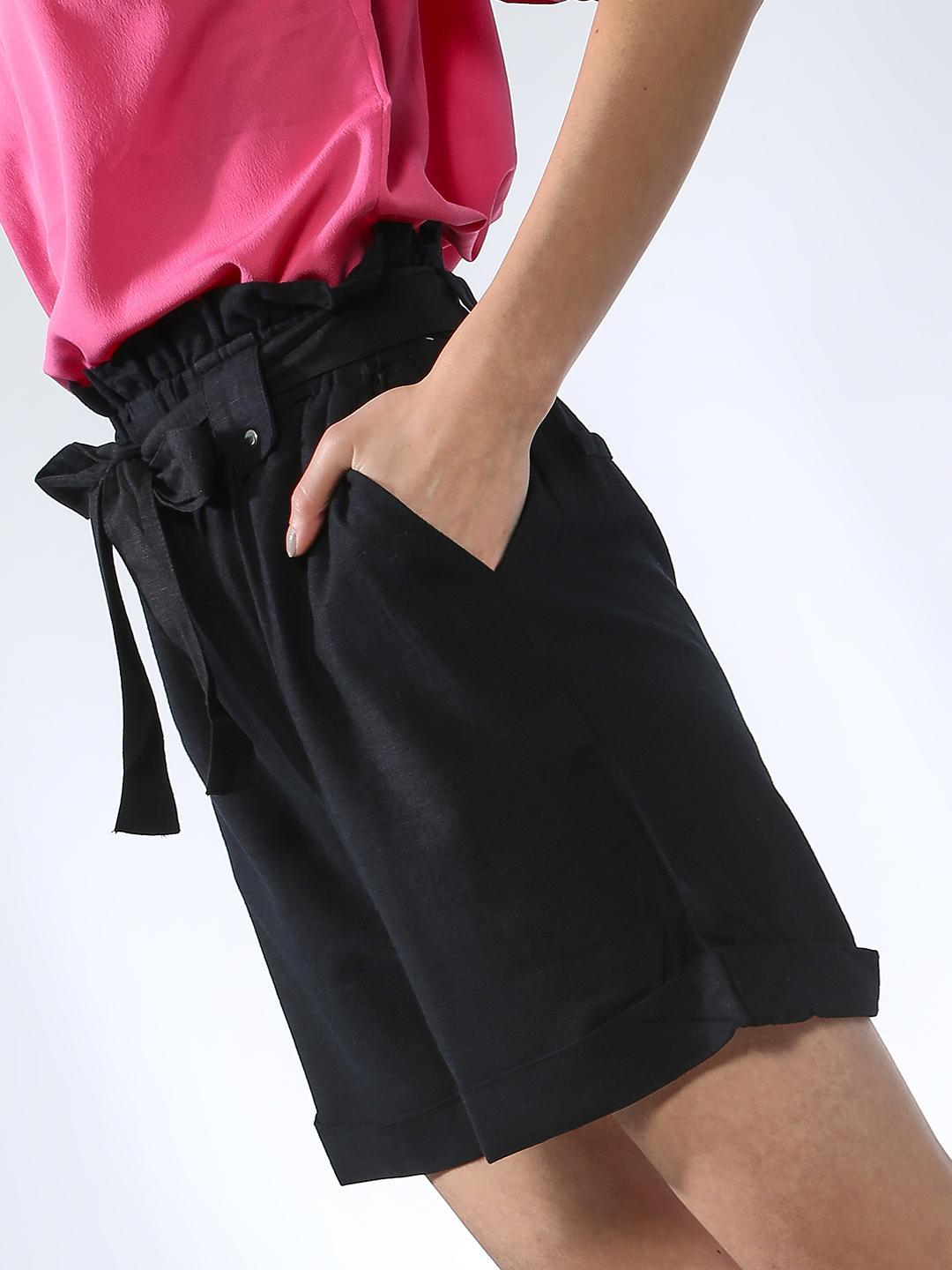 Oxolloxo Pink Plain Regular Fit Shorts 1