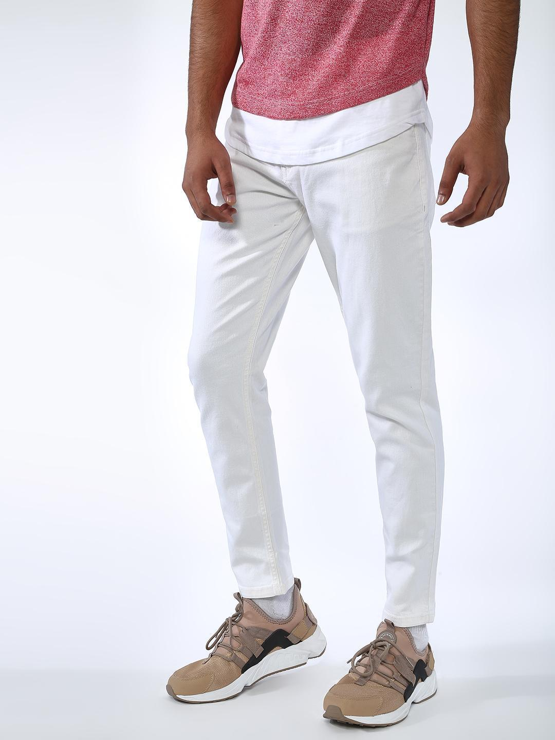 REALM White Basic Slim Fit Jeans 1
