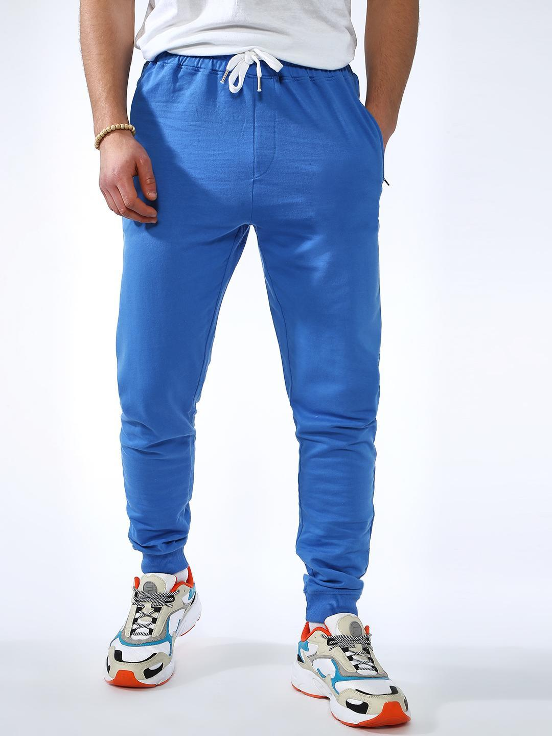 Blue Saint Blue Solid Slim Fit Jog Pants 1
