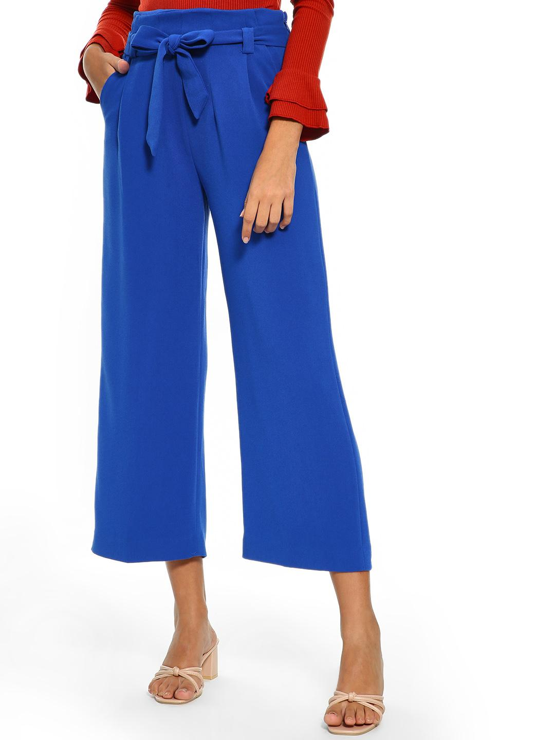 Cover Story Blue Belted High Waist Culottes 1