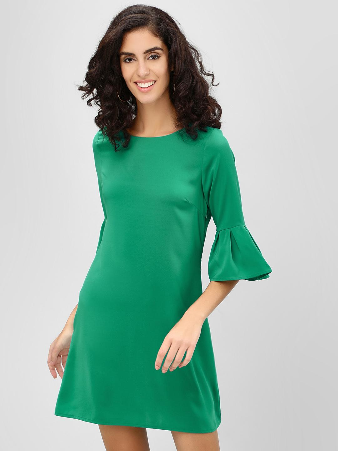 Cover Story Green Bell Sleeve Shift Dress 1
