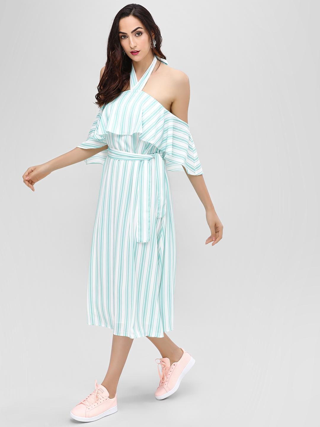Cover Story STRIPE Halter Stripe Maxi Dress 1