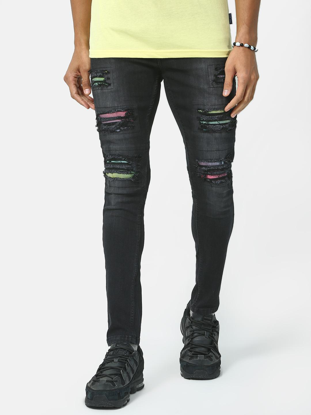 IMPACKT Black Ripped Distressed Jeans 1