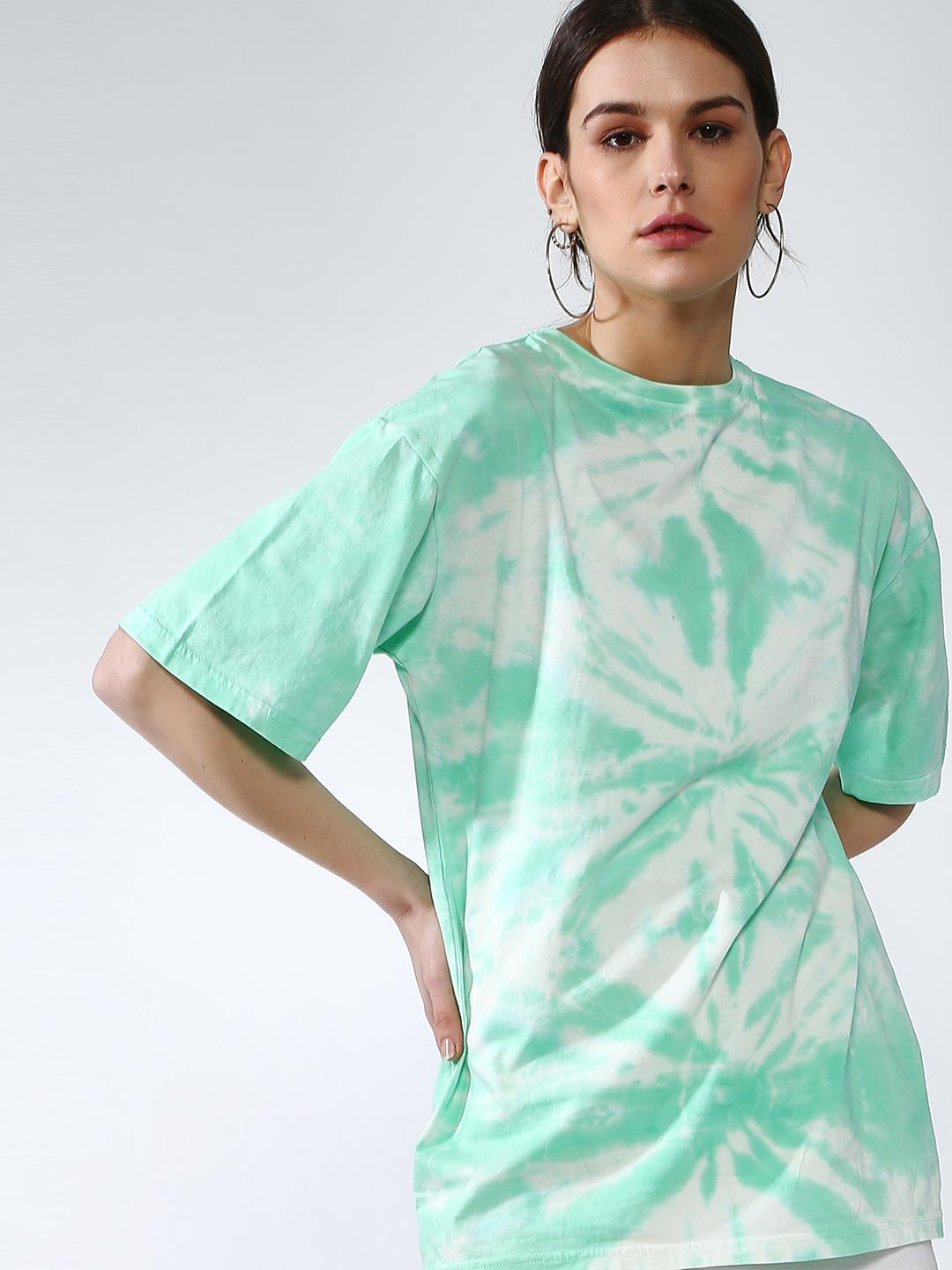 Blue Saint Green All Over Tie-Dye Oversized Fit T-shirt 1