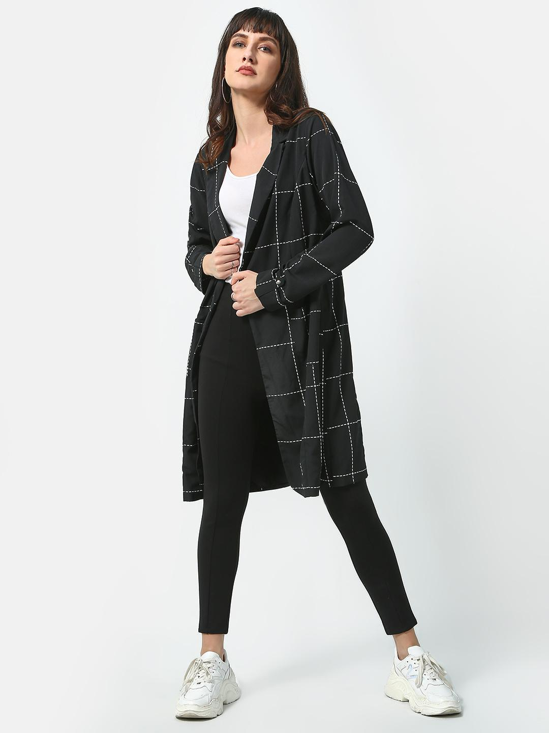 Oxolloxo Black Checked Definition Blazer 1