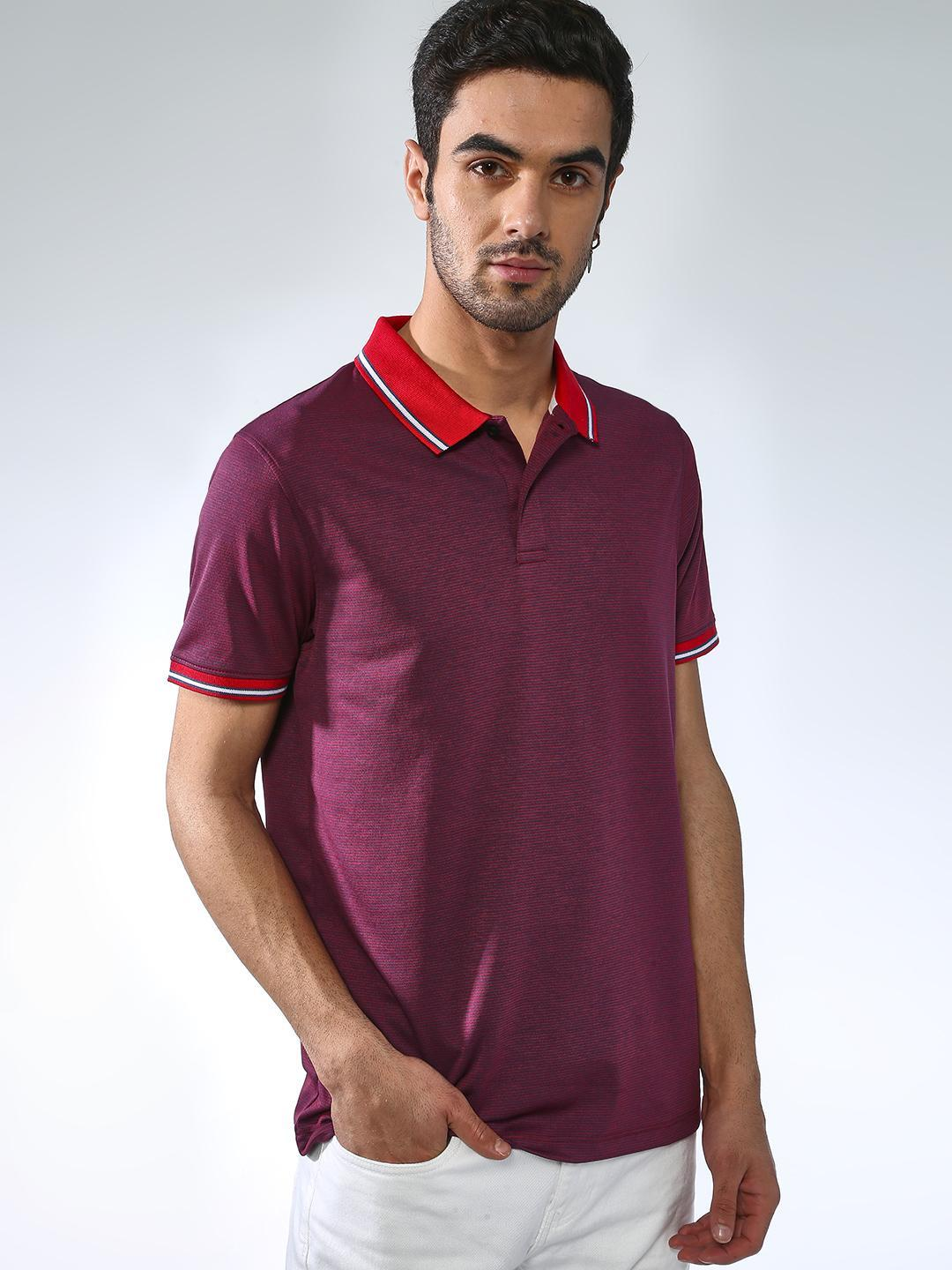 Blue Saint Red Basic Muscle Fit Polo Shirt 1