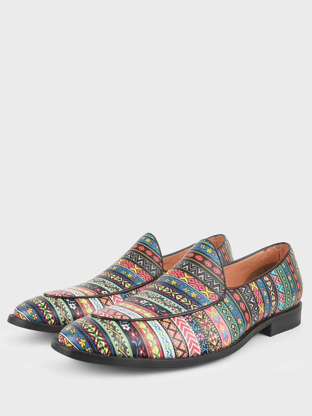 Griffin Multi Mixed Print Loafers 1