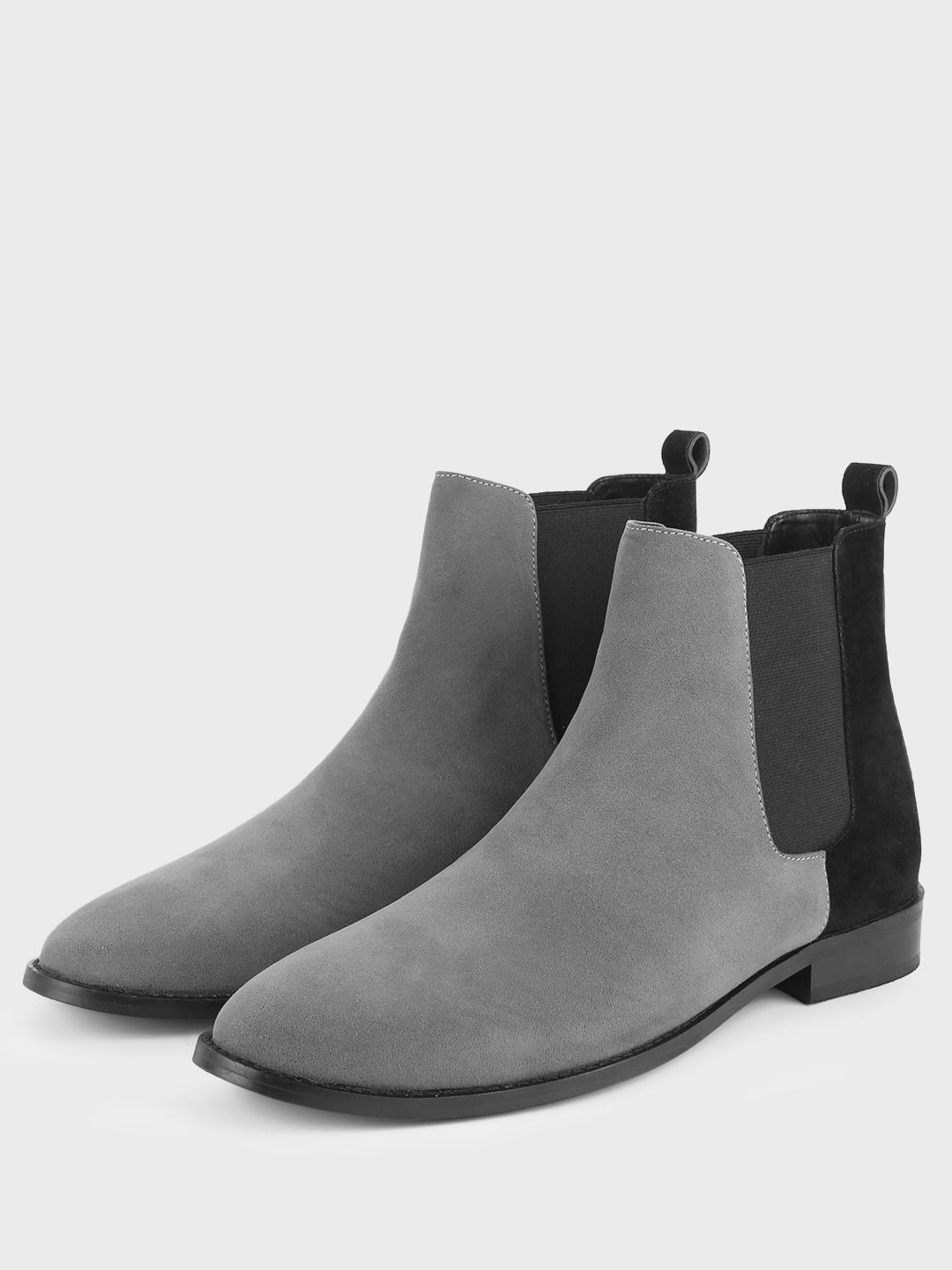 Griffin Grey Contrast Counter Chelsea Boots 1