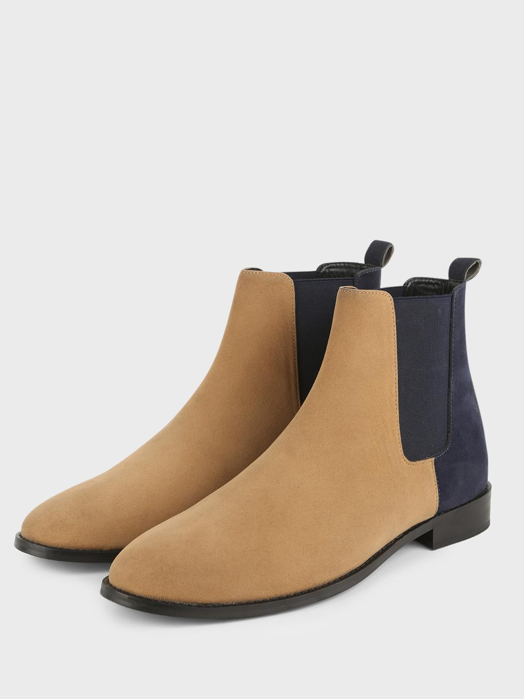 Griffin Brown Contrast Counter Chelsea Boots 1