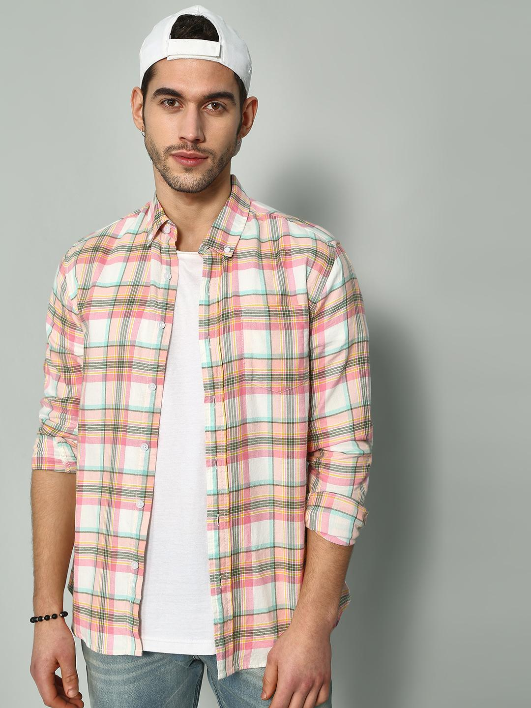 Blue Saint Multi Madras Check Long Sleeve Shirt 1