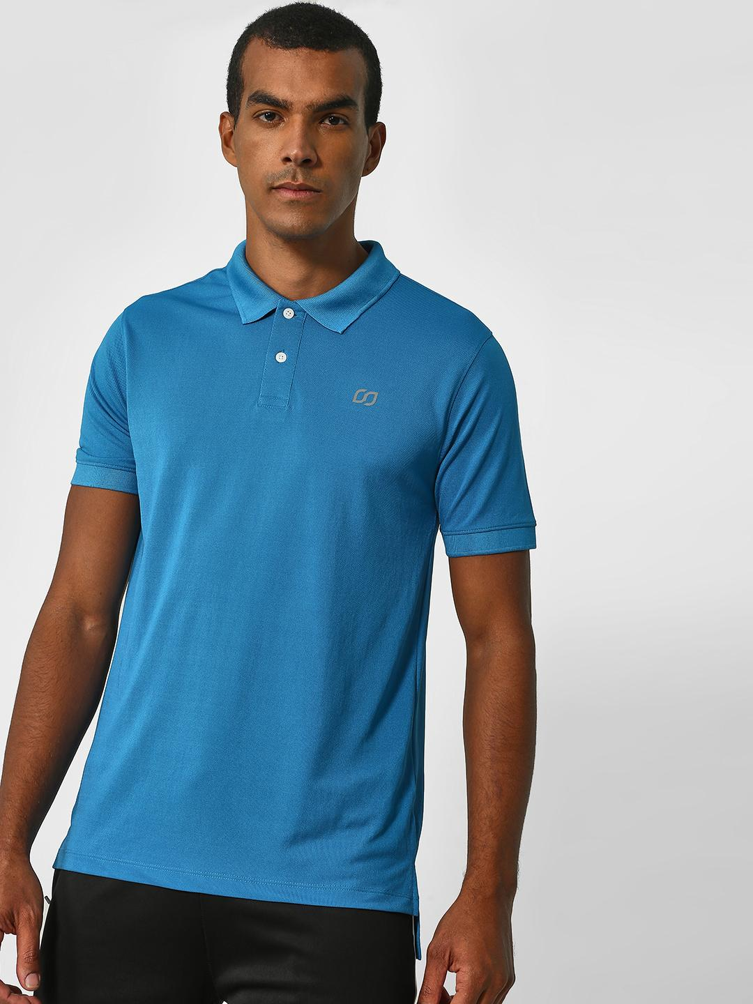 ONE/ZERO BY KOOVS Blue Training Polo Shirt 1