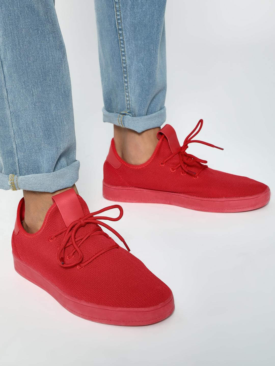 Kindred Red Knitted Lace-Up Shoes 1