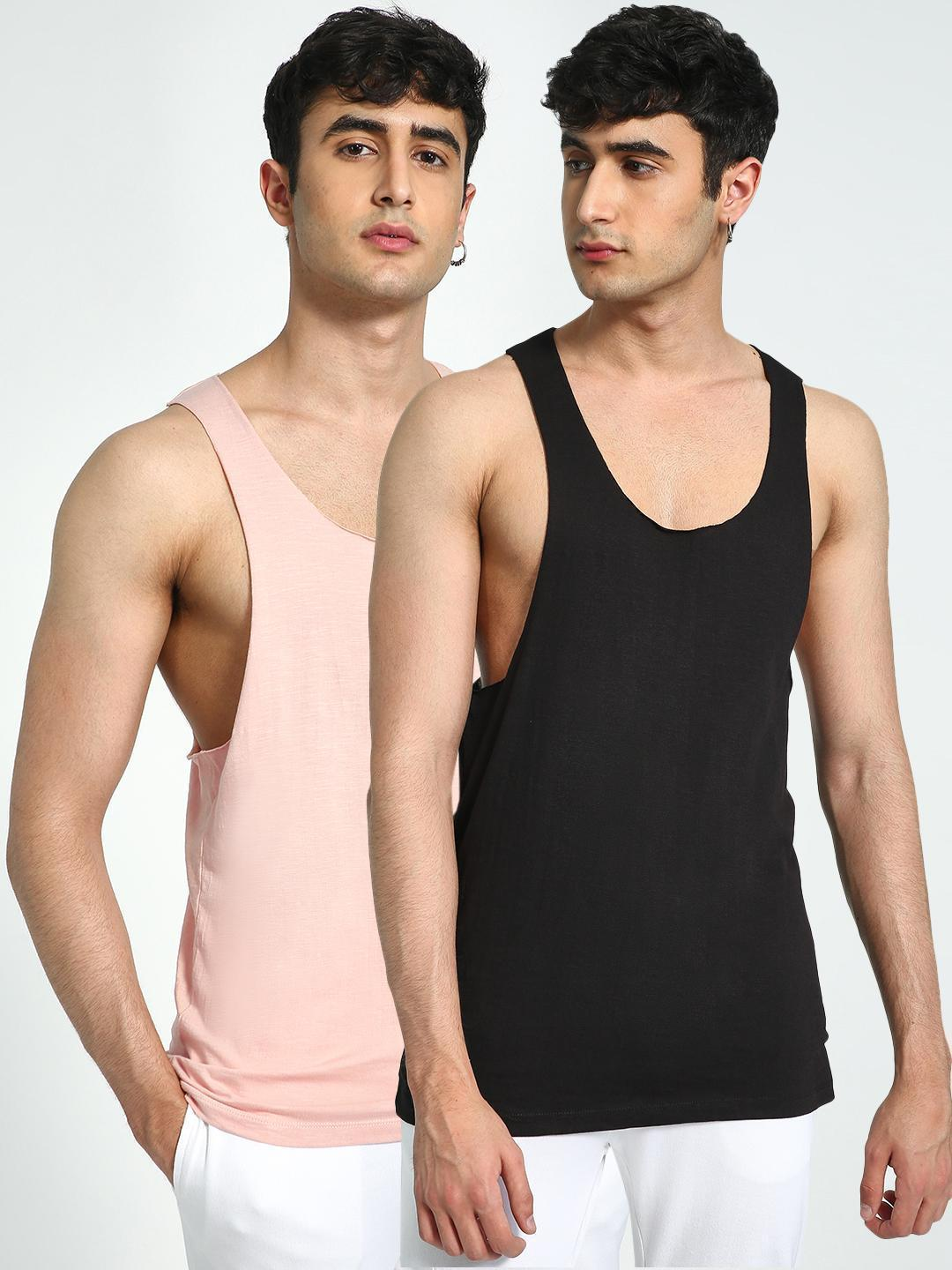 KOOVS Raw Edge Racerback Vest  Pack Of 2