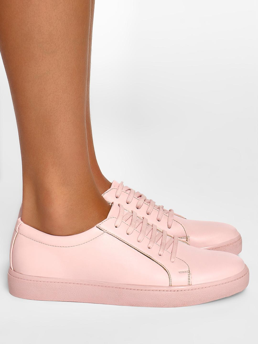 Wet Blue Pink Basic Lace-Up Sneakers 1