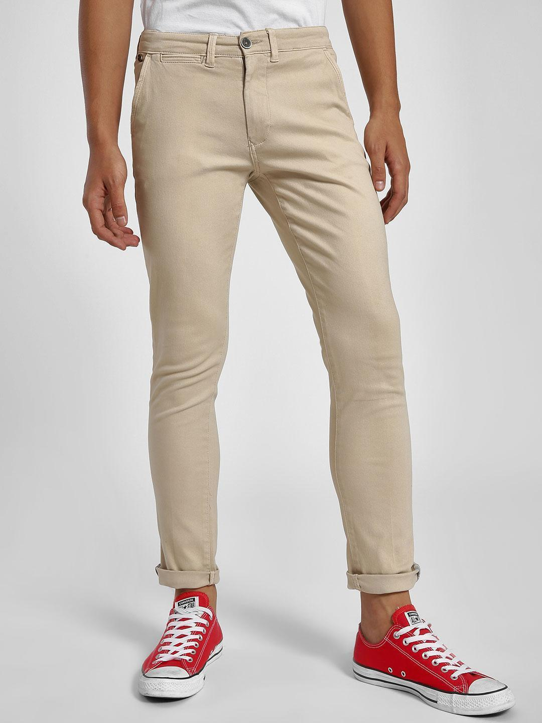 Alcott Beige Basic Slim Fit Chinos 1