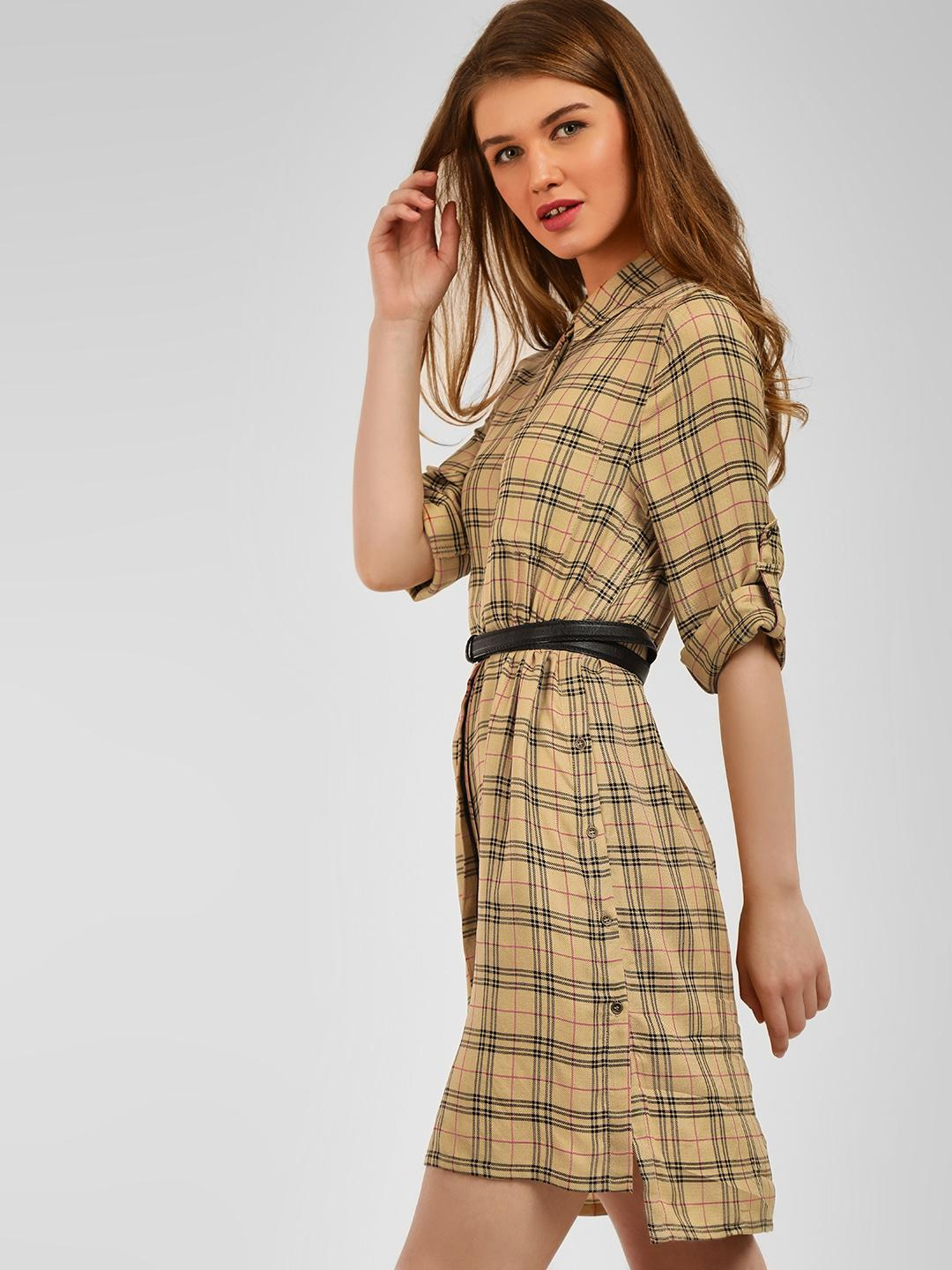 Cover Story Checks Check Print Shirt Dress 1