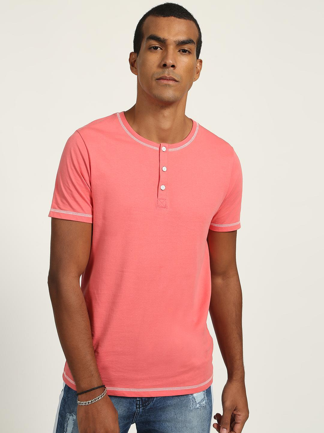 Blue Saint Pink Basic Causal T-shirt 1