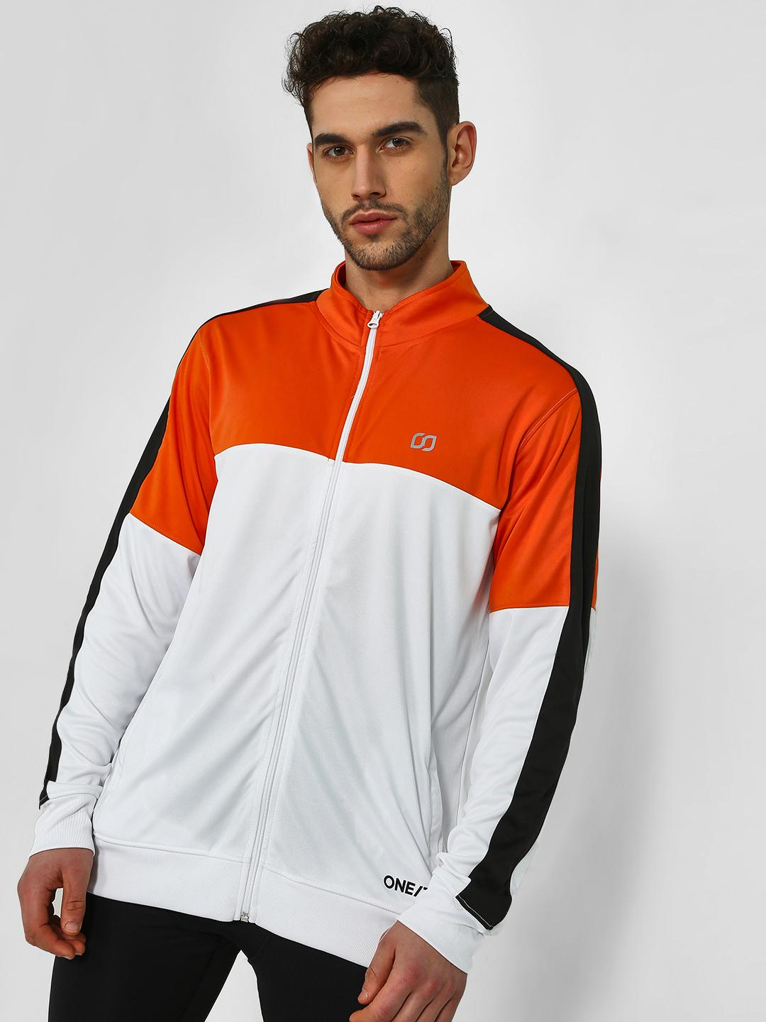 ONE/ZERO BY KOOVS Multi Colour Block Track Jacket 1