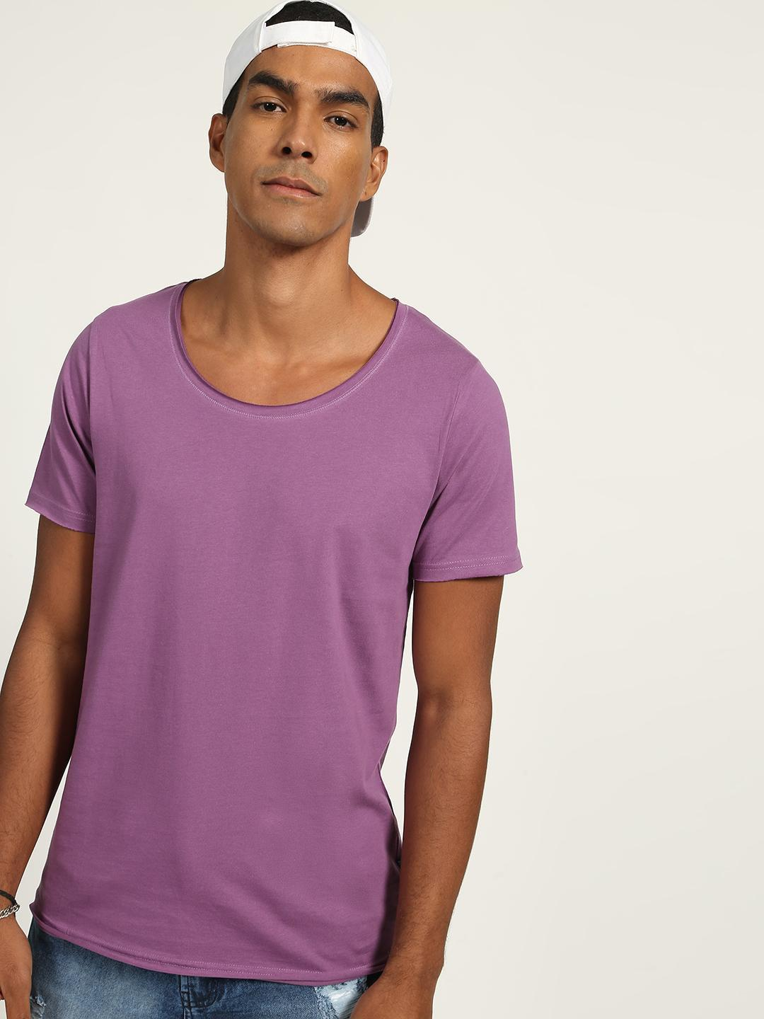 Blue Saint Purple Scoop Neck T-shirt 1