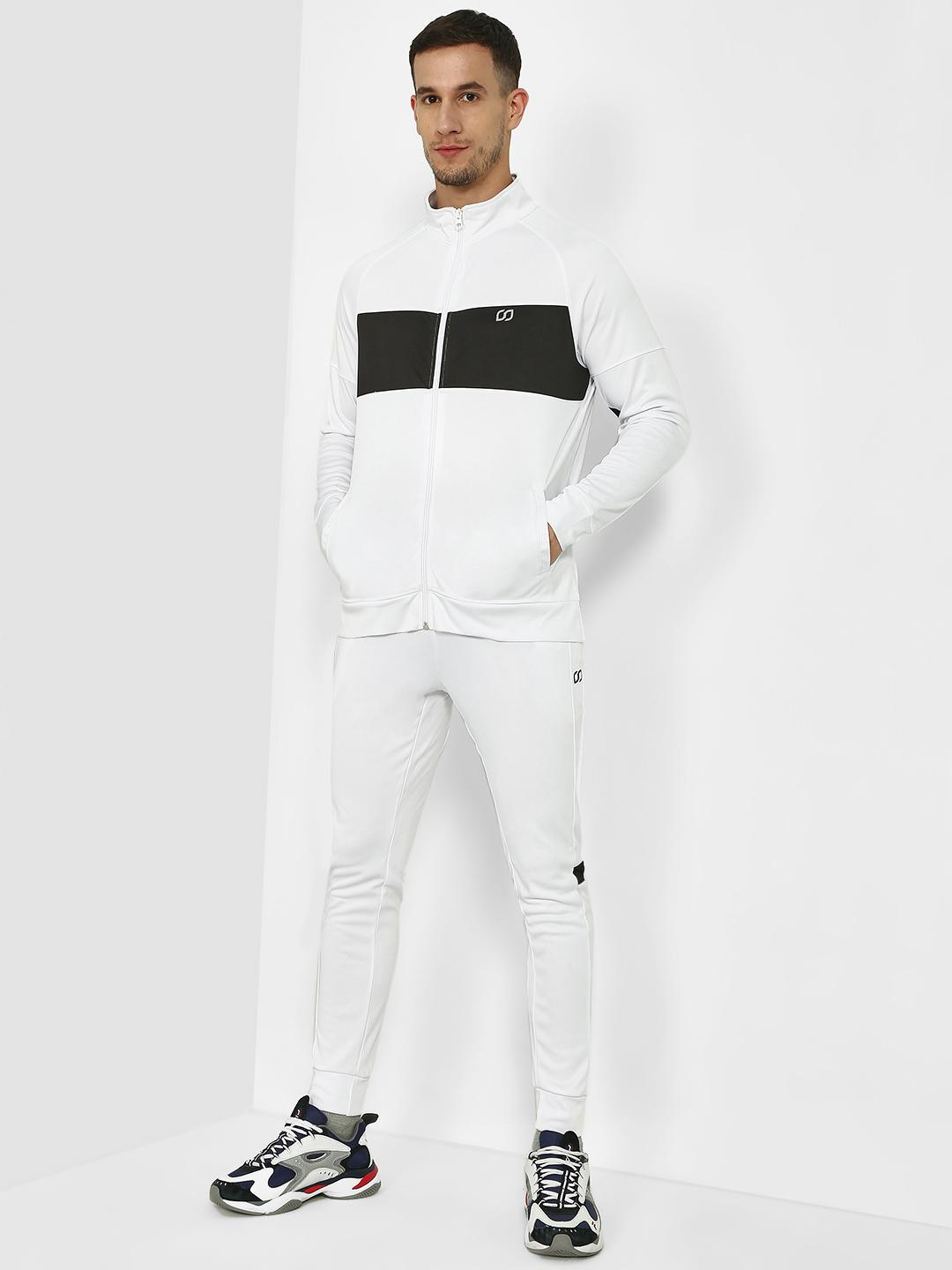 ONE/ZERO BY KOOVS White Contrast Panel Windproof Tracksuit 1