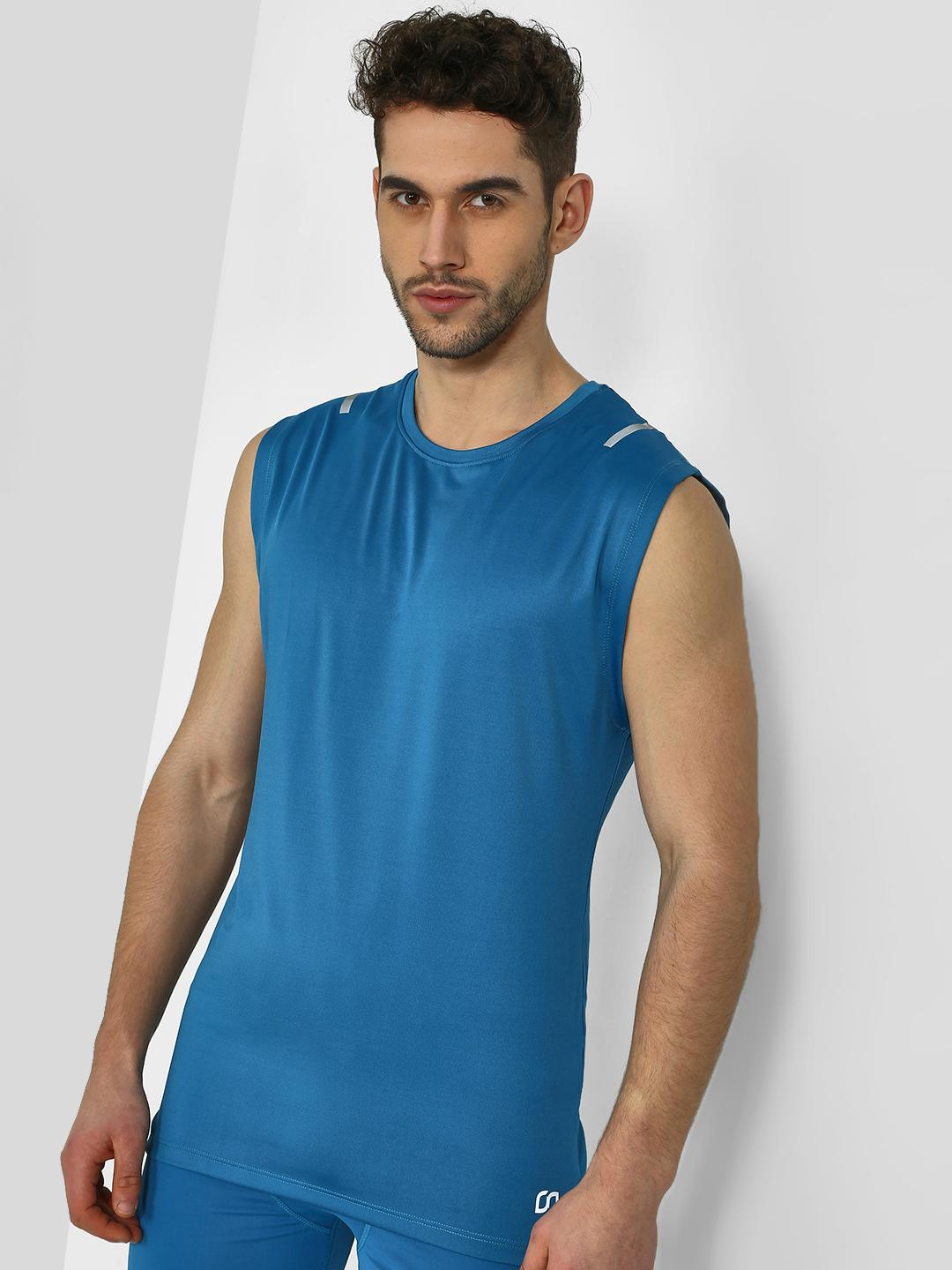 ONE/ZERO BY KOOVS Blue Active Stretch Training Vest 1