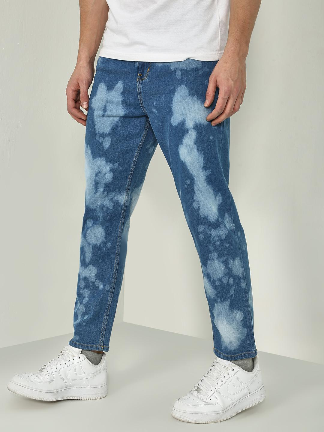 Blue Saint Blue Bleach Dye Regular Fit Jeans 1